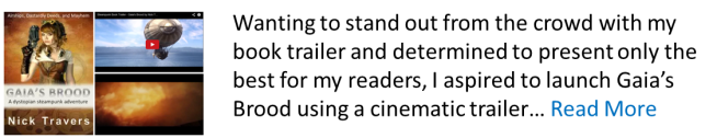 A Steaming Seampunk Book Trailer